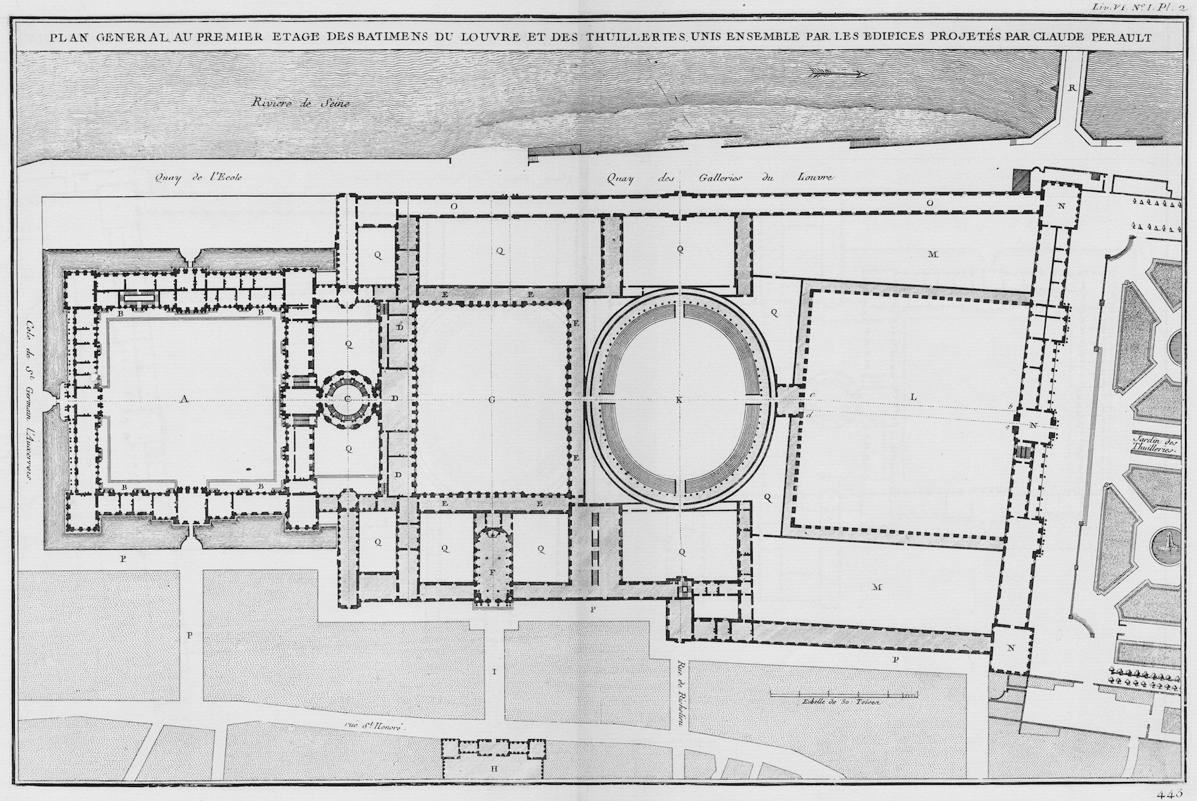 A Plan Of The Louvre S Cour Carr 233 E And The Making Of The