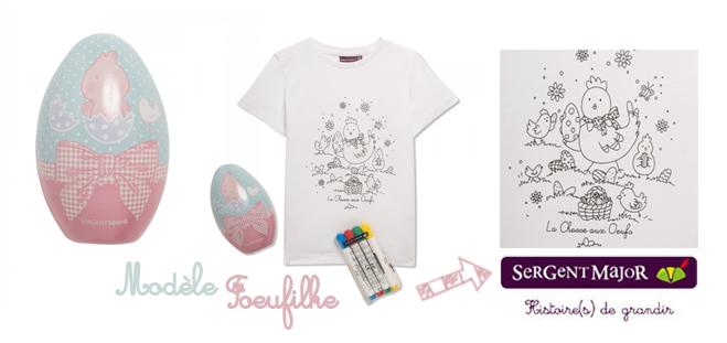t-shirt à colorier