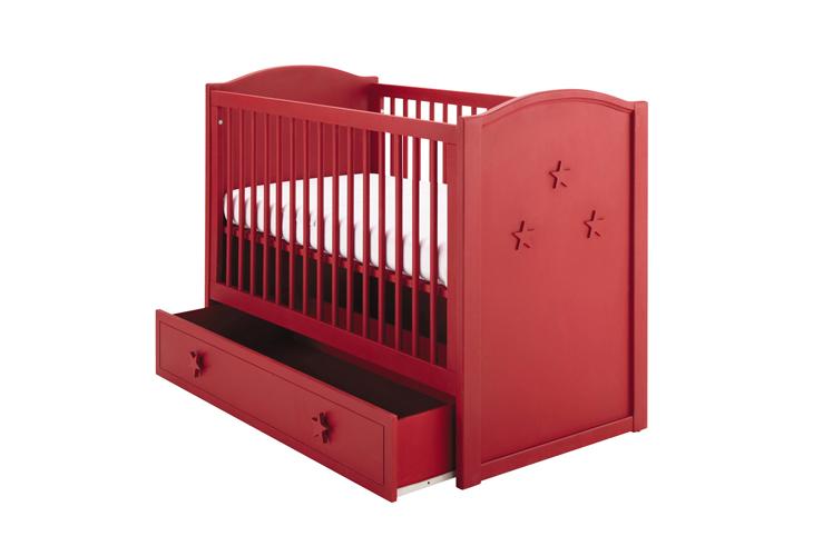 lit pour bebe rouge