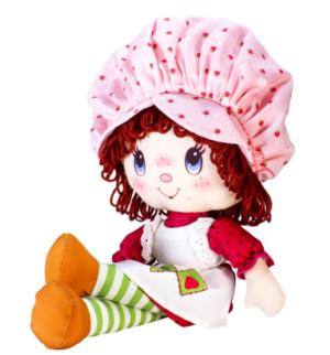 poupée rétro charlotte aux fraises