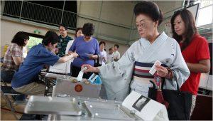Vote de citoyens japonais