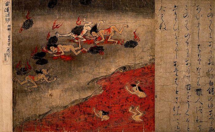 Représentation des enfers bouddhiques à l'ère Heian