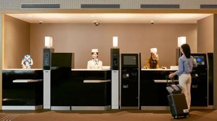 hôtel réception robot japon