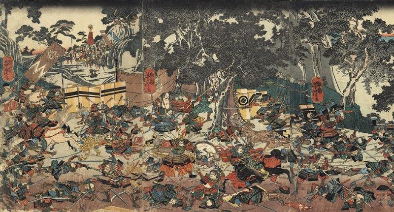 Illustration de la guerre d'Ônin