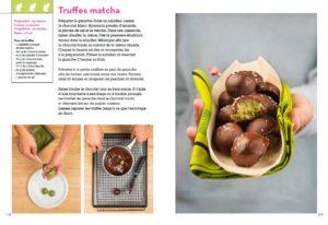 Pâtisseries japonaises - Laure Kié : page intérieure truffes matcha