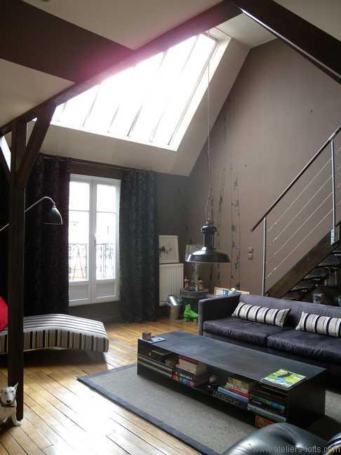 Atelier Dartiste Avec Sjour Cathdrale Journal Du Loft