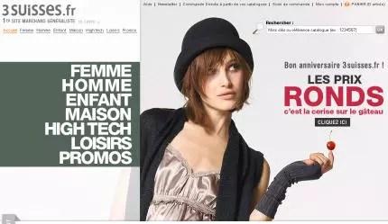 la homepage de 3suisses.fr, dans toute sa largeur