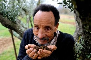 Pierre Rabhi, agriculteur, philosophe et essayiste français d'origine algérienne. Maison Neuve. Ardèche. 7 mars 2013. © Guillaume ATGER / Divergence pour l'Express