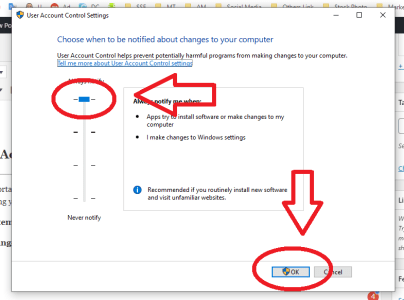 user account control settings protect computer