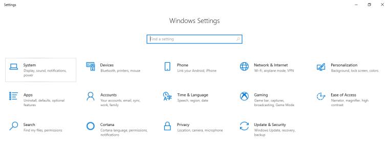 windows 10 customize settings