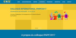 Colloque IPAPE 2017