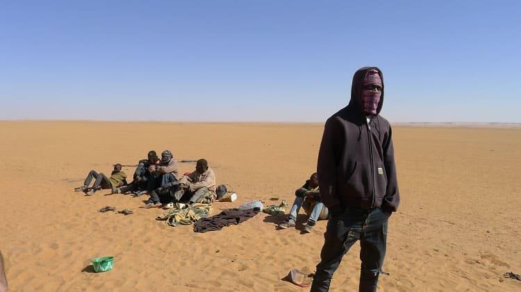 Traversée des migrants de l'Afrique de l'Ouest