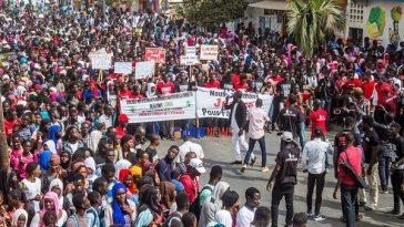 Marche des étudiants de Saint-Louis