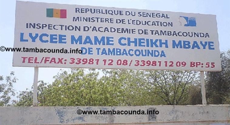 Lycée Mame Cheikh Mbaye de Tamba