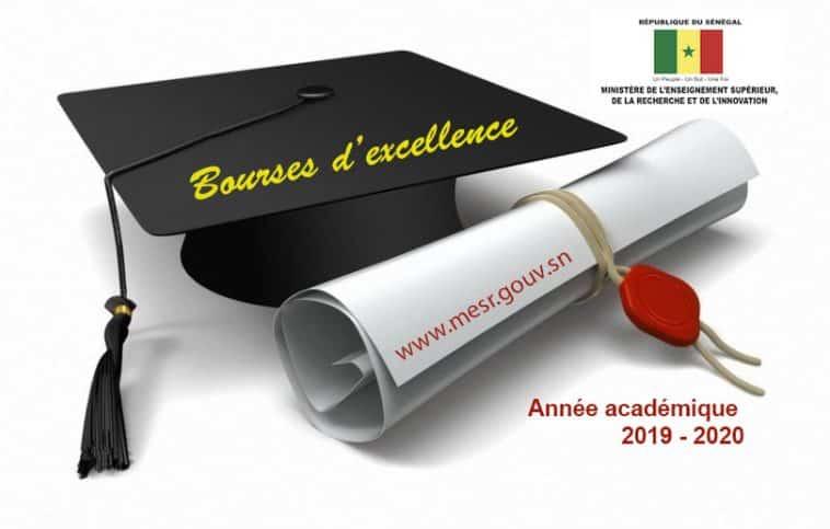 étudiants attributaires d'une bourse d'excellence