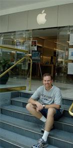 Me, outside the Apple Store in Nashville
