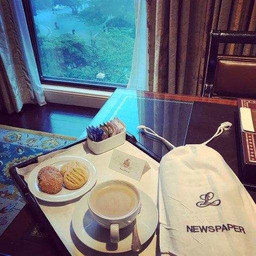 Morning Coffee Delivered to Room