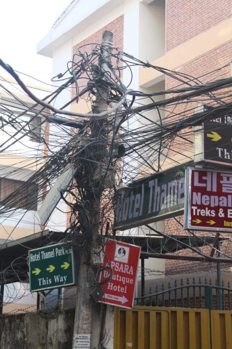 Jumble of wires in Kathmandu