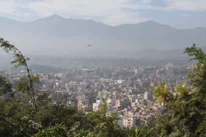 View from the top of Swayambhunath Temple in Kathmandu