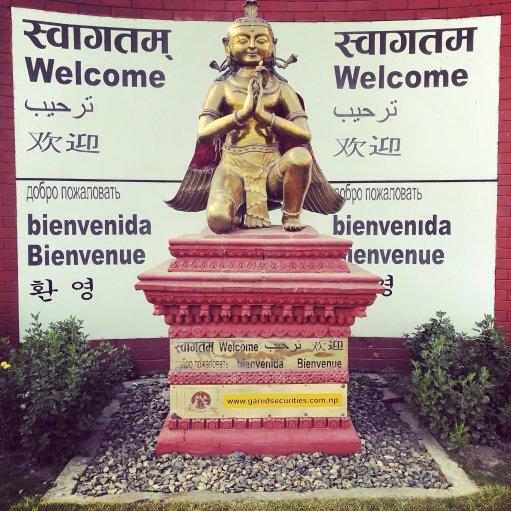Kathmandu Airport Welcome Sign