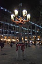 Gaudi Inspired light post in Placa del Reial
