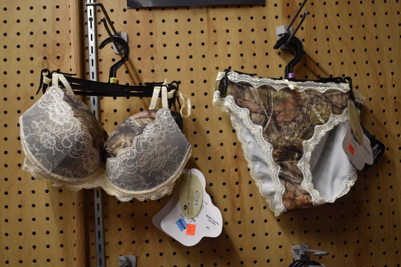 Camouflage lingerie at Pic and Shovel