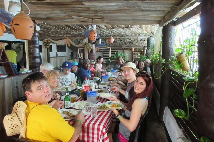 lunch during an excursion from grand bahia principe
