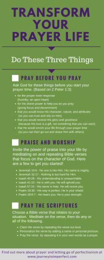 Prayer isn't always easy! The great thing is that God will equip us! Read to find out about three powerful strategies that can help transform your prayer life!
