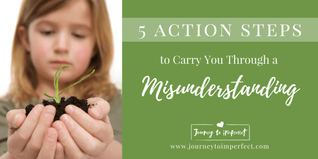We will all face misunderstandings in our relationships, and often it's hard to know how to react. Read more to find 5 action steps straight from God's Word to help carry you through any misunderstanding.