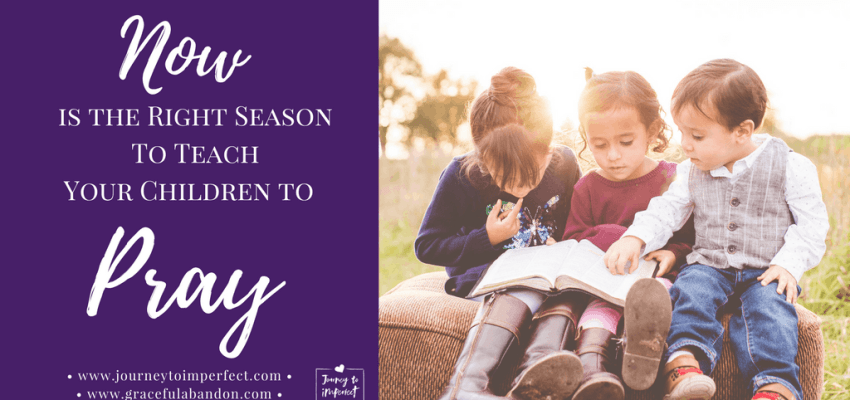 Now is the season to teach your children to pray! Join us as we talk about creative ideas for instilling the habit of prayer.