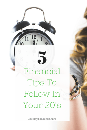 5 Financial Tips To Follow in Your 20's and For Millennials