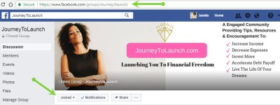 Journey To Launch Facebook Group