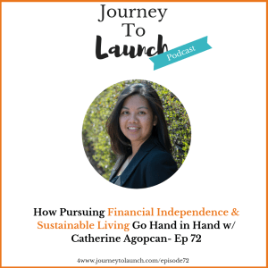 Episode 72- How Pursuing Financial Independence & Sustainable Living Go Hand in Hand w/ Catherine Agopcan