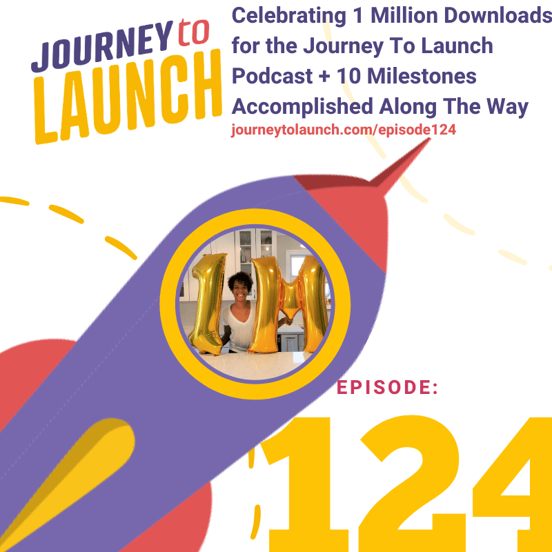 Episode 124- Celebrating 1 Million Downloads For The Journey To Launch Podcast + 10 Milestones Accomplished Along The Way