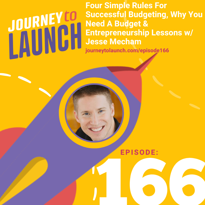 Episode 166- Four Simple Rules For Successful Budgeting, Why You Need A Budget & Entrepreneurship Lessons w/ Jesse Mecham
