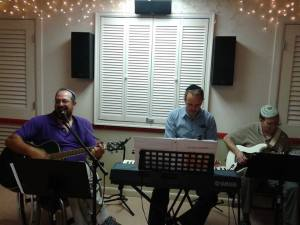 Rob, Jim and Paul leading worship