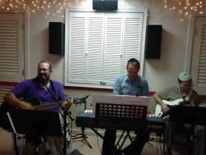 Rob, Jim and Paul leading worship