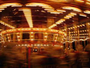 merry-go-round spinning fast