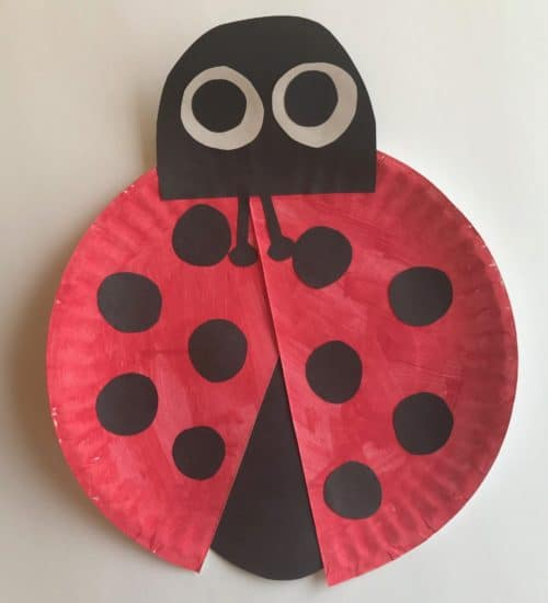 Ladybug Paper Craft. Perfect addition to your toddler crafts of ages 2 and up. & Ladybug Paper Craft - Journey to Stay at Home Mom