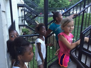 The neighborhood kids all wanted to know what we were doing there. And then they ask if they could come.