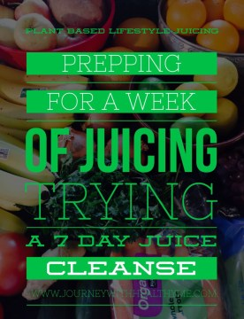 Prepping for a Week of Juicing