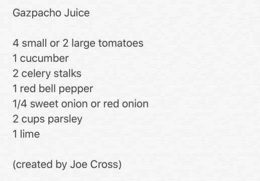 First Day of Juicing