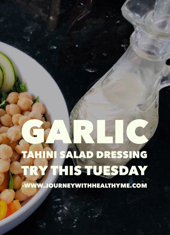 Garlic Tahini Salad Dressing