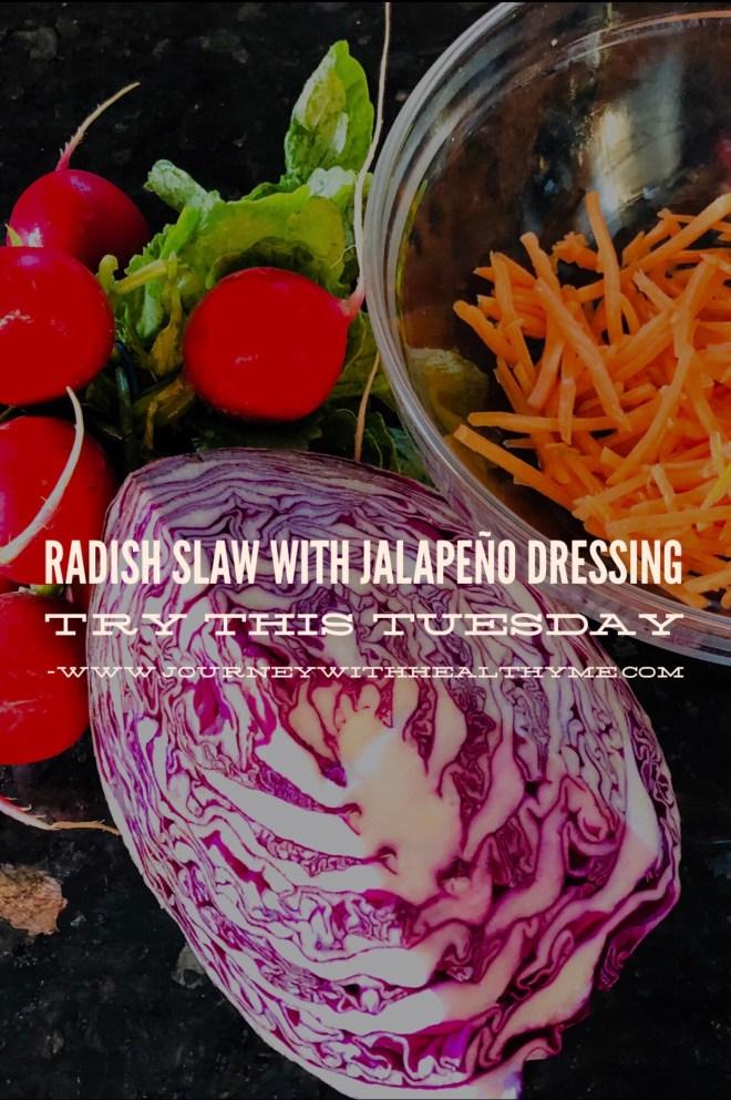 Radish Slaw with Jalapeño Dressing