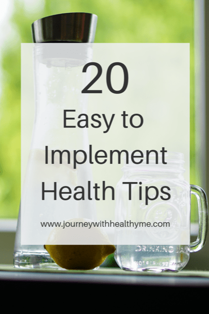 20 Easy to Implement Health Tips