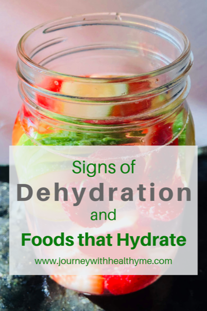 Signs of Dehydration and Foods that Hydrate