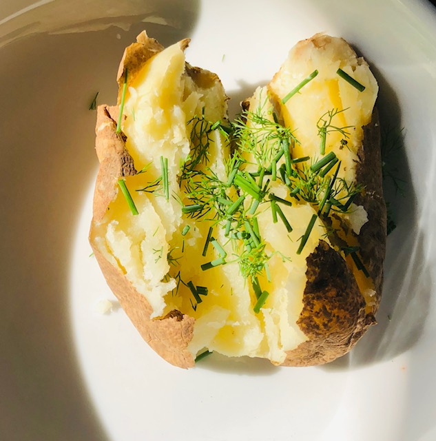 Baked Potato with Dill and Chives