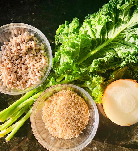 Navy Bean Brown Rice & Kale