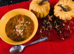 Mushroom Bean and Barley Soup