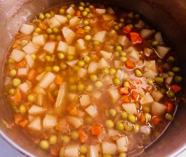 Veggies simmering